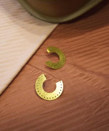 Gold Plated Hoop Earrings Artonomous 1b