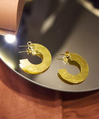 Hoop Earrings Gold Plated Artonomous 1