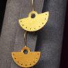 Long Earrings Gold Plated Brass Artonomous 1b