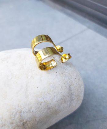 Σκουλαρίκια Ασήμι Επίχρυσα - Κρίκοι