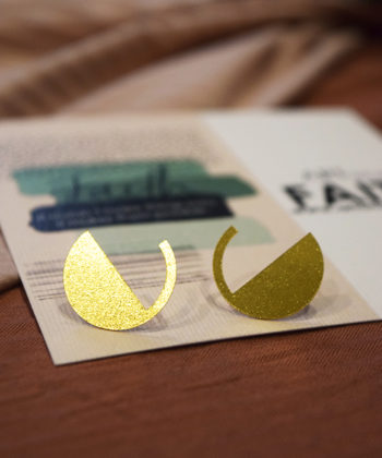 Stud Earrings Gold Plated Artonomous 5