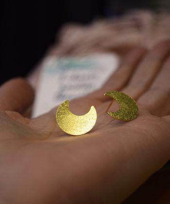 Stud Earrings Moon Artonomous 7