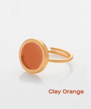 Πριγκιπώ δαχτυλίδι σμάλτο Πορτοκαλί