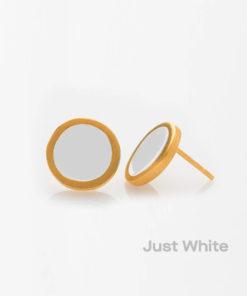 Just White Small Earring Prigipo Artonomous 1