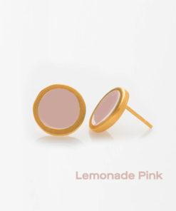 Lemonade Pink Small Earrings Prigipo Artonomous 1