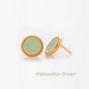 Pistacchio Green Small Earring Prigipo Artonomous 1