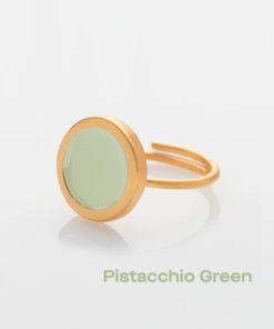 Pistacchio Green Small Ring Prigipo Artonomous 1