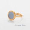 Πριγκιπώ δαχτυλίδι σμάλτο Γαλάζιο