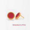 Strawberry Pink Small Earring Prigipo Artonomous 1