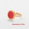 Πριγκιπώ δαχτυλίδι σμάλτο Ροζ