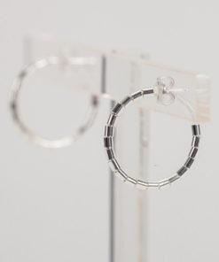 Tube Silver Hoop Earrings Artonomous 4