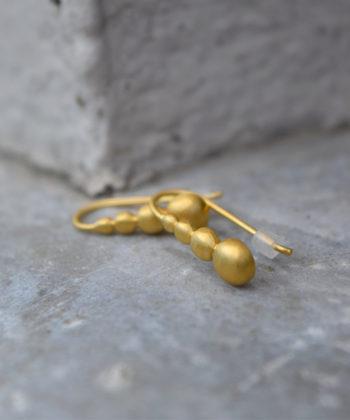 Πριγκιπώ σκουλαρίκια επιχρυσωμένα σταγόνες