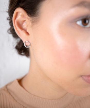 Πριγκιπώ σκουλαρίκια γυαλιστερά ασήμι