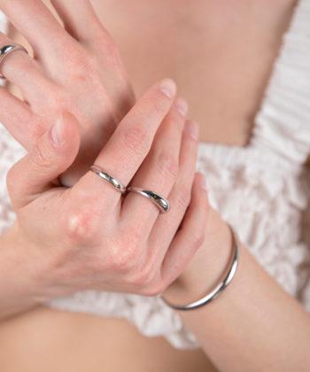 Πριγκιπώ δαχτυλίδι γυαλιστερό ασήμι