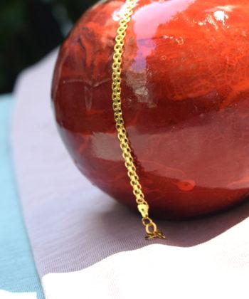 Βραχιόλι Ασήμι Επιχρυσωμένη Αλυσίδα - Chain