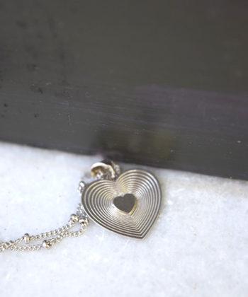 Κρεμαστό καρδιά ασήμι 1