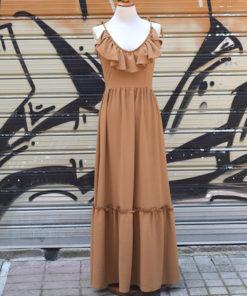 Maxi φόρεμα με βολάν 2