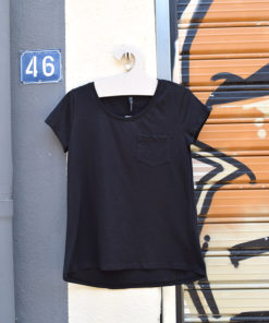 T Shirt μαύρο με τσέπη 6