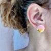 Σκουλαρίκια κεραμικά κύκλος - κοραλλί
