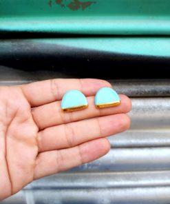 Σκουλαρίκια κεραμικά οβάλ - Βεραμάν