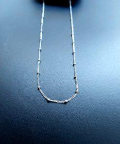 Αλυσίδα Ασήμι - Beads