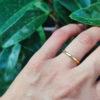 Δαχτυλίδι βεράκι ασήμι επιχρυσωμένο