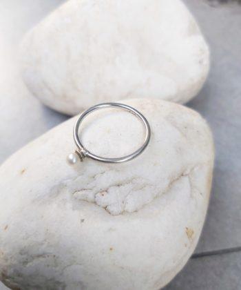 Δαχτυλίδι βεράκι ασήμι μαργαριτάρι