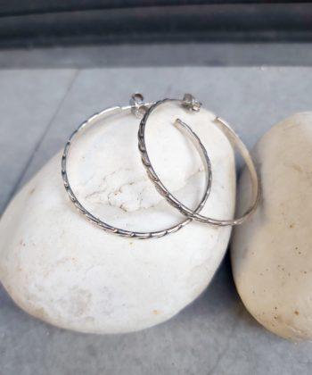 Σκουλαρίκια ασήμι κρίκοι πλεξούδα