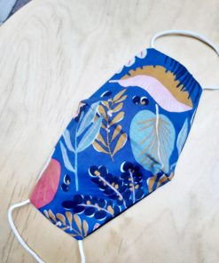 Μάσκα Προστασίας οβάλ - Tropical Μπλε