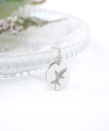 Κολιέ ασήμι λουλούδι γέννησης - Δεκέμβριος